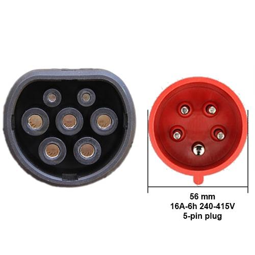 3-EV EVSE Type2 (3x16A) Câble de recharge véhicule électrique