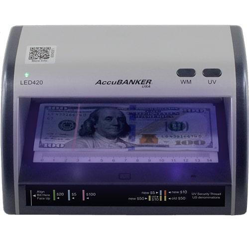 1-AccuBANKER LED420 Détecteur de faux billets