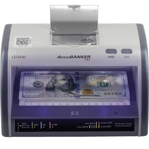 1-AccuBANKER LED430 Détecteur de faux billets