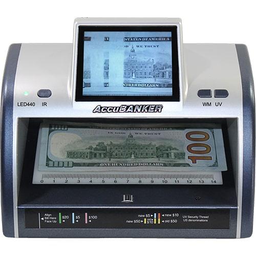 1-AccuBANKER LED440 Détecteur de faux billets