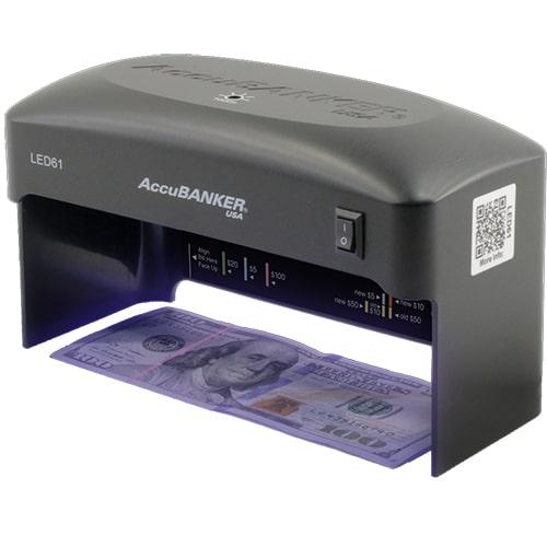 1-AccuBANKER LED61 Détecteur de faux billets